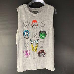 ♻️3/$25 Marvel Comics Superheroes Grey Tank Top